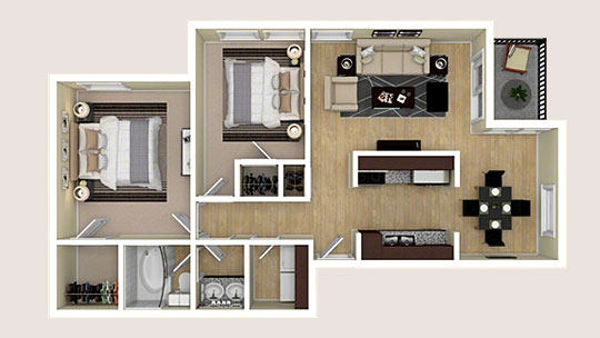 3D Apartment Floor Plans & Virtual Tours - RealPage