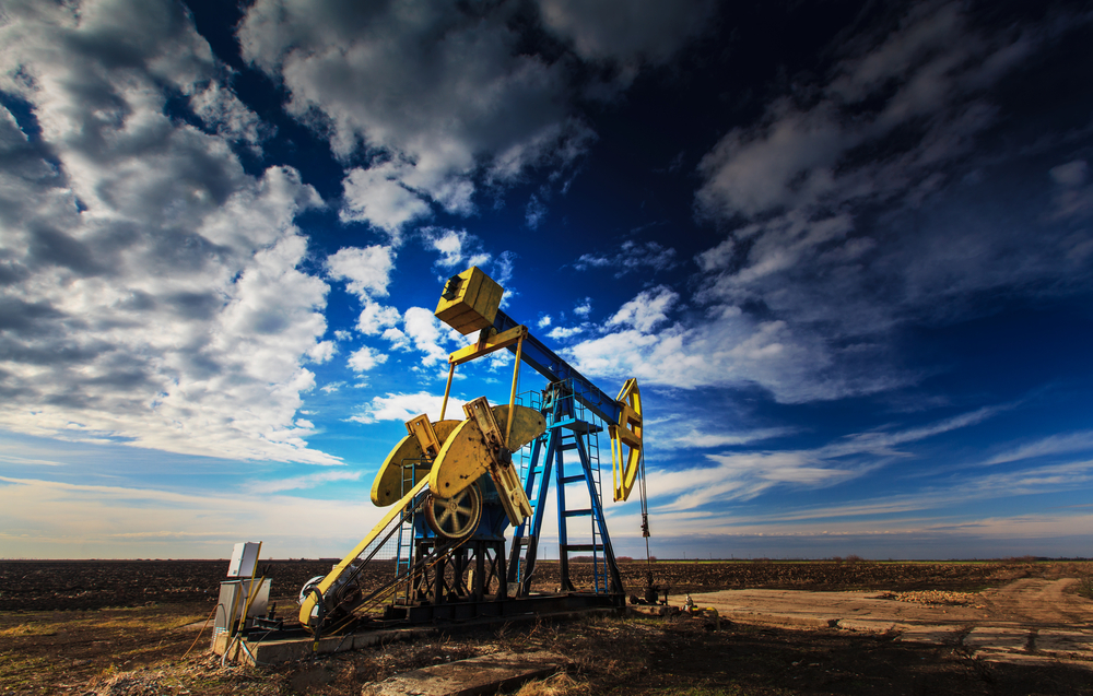 Oil field in Odessa, Texas